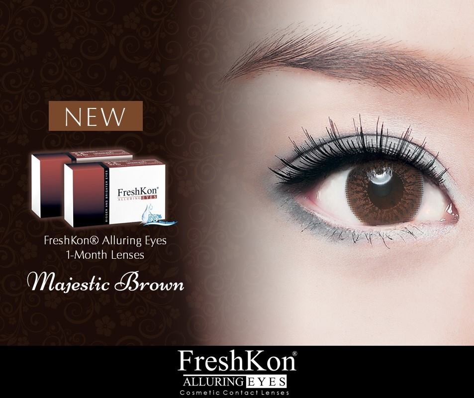 New Freshkon Majestic Brown Contact Lens Singapore